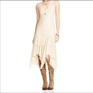 Free People Lila lace slip maxi dress XS